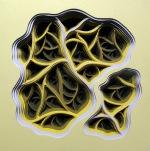 Radimafungle Gestation Movement 6 | Acrylic and hand-cut paper on panel