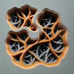 Radimafungle Gestation Movement 8 | Acrylic and hand-cut paper on panel